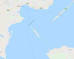Крымский мост на Google Maps